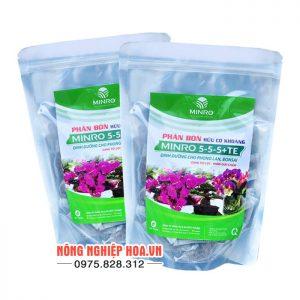 Phân bón hữu cơ khoáng Minro 5-5-5+TE cho lan T36