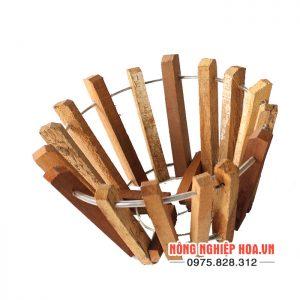 Chậu gỗ trồng lan đường kính 20cm CG04