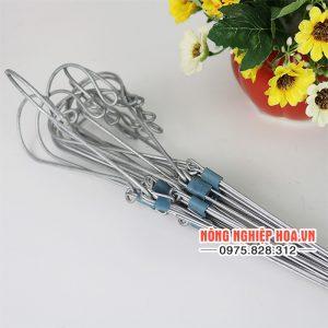 Móc treo lan bằng thép có dây treo 70cm, bộ 10 móc VTK10