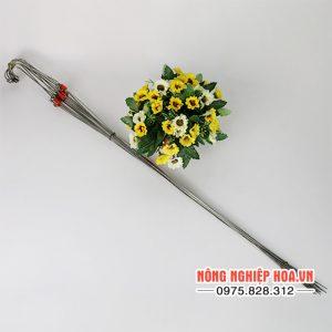 Móc treo lan Inox có 3 dây treo 70cm, bộ 10 móc – VTK9