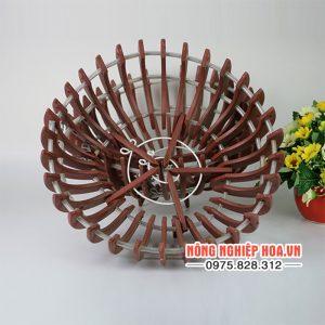 Chậu nhựa trồng lan giả gỗ đường kính 30cm hình bí CN9